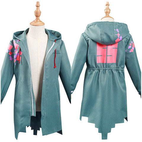Danganronpa Nagito Komaeda Kids Children Army Green Jacket Cosplay Costume Coat
