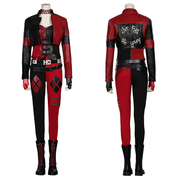 The Suicide Squad (2021)- Harleen Quinzel/Harley Quinn Coat Pants Outfits Halloween Carnival Suit Cosplay Costume