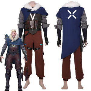 Game Valorant Sova Adult Men Halloween Carnival Outfit Cosplay Costume