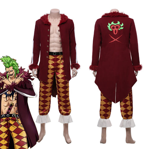 One Piece:Pirate Warriors 4 Bartolomeo Halloween Carnival Costume Cosplay Costume