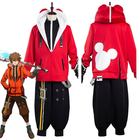 Game STAR SMASH Yu Red Braves Coat Pants Outfits Halloween Carnival Suit Cosplay Costume