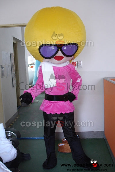 Cartoon Afro Star Mascot Costume Adult Size