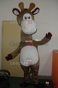 Cartoon Giraffe Mascot Costume Adult Size