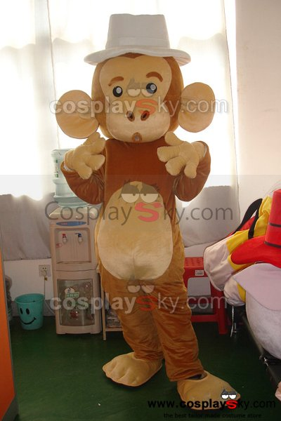 Cartoon Monkey Mascot Costume Adult Size