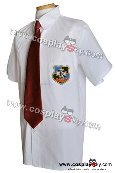 Clannad Cosplay Costume School Boy Uniform Shirt + Tie