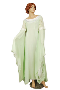 The Lord of the Rings Arwen Light Green Gown Dress Costume