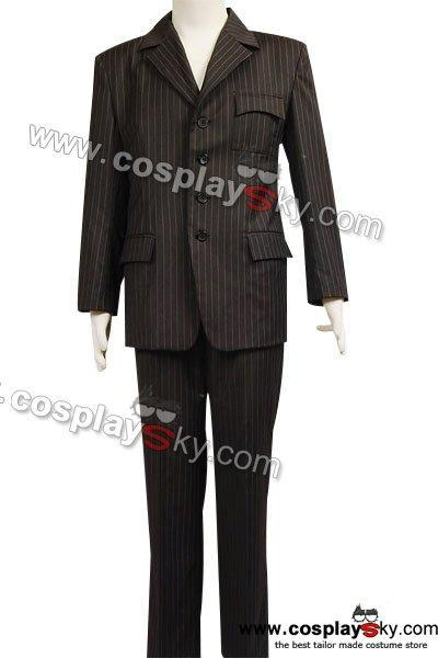 Who will be Doctor Dr Brown Pinstripe Suit blazer pants Costume