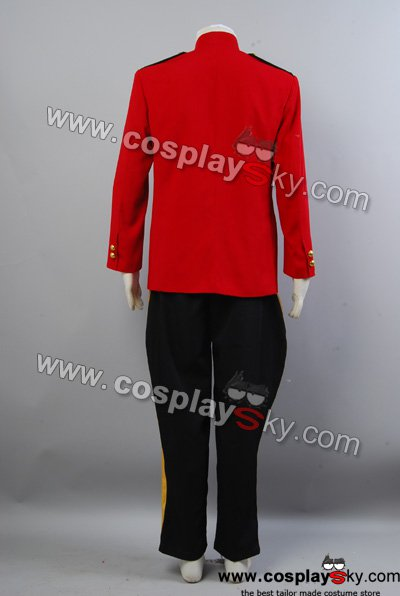 Due South Red Mountie Serge Uniform Tunic Costume