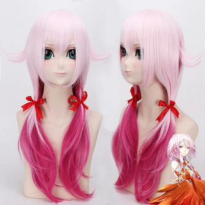 Guilty Crown Inori Yuzuriha Anime Cosplay Costume Wig Party Full Hair