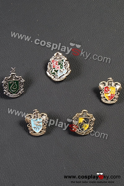 Harry Potter Hogwarts School Metal Badge Set of 5