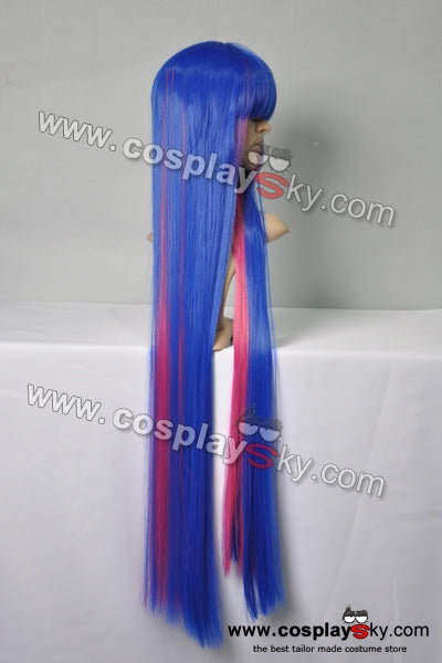 Panty And Stocking Dark Blue Pink Cosplay Wig