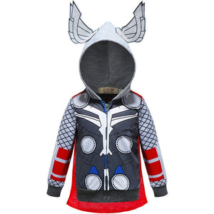 Marvel Thor Zip Up Hoodie For Kids Children