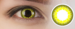 One Piece Dracule Cosplay Cosmetic Contact Lense Yellow