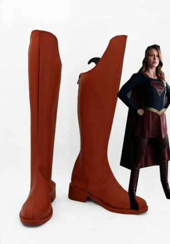 Supergirl Kara Danvers Red Boots Cosplay Shoes