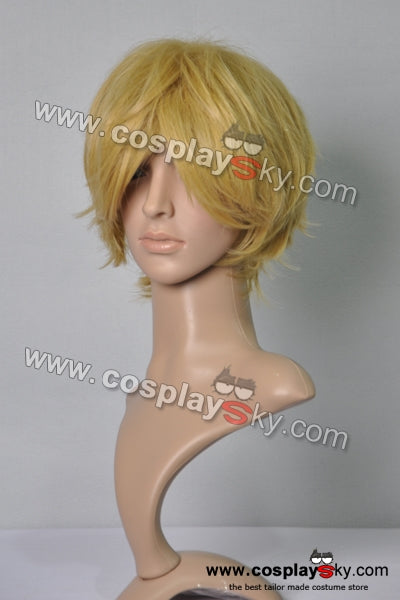 Reborn Dino Short Yellow Blonde Flip Out Cosplay Wig