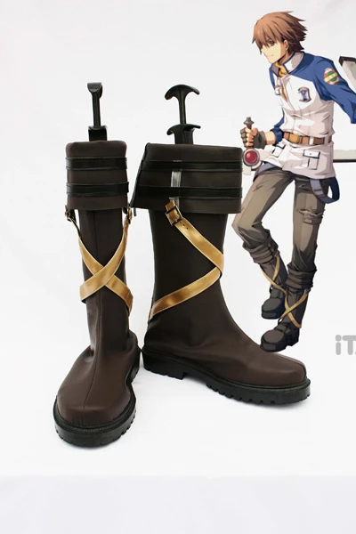 The Legend of Heroes Zero No Kiseki Lloyd Cosplay Boots Shoes