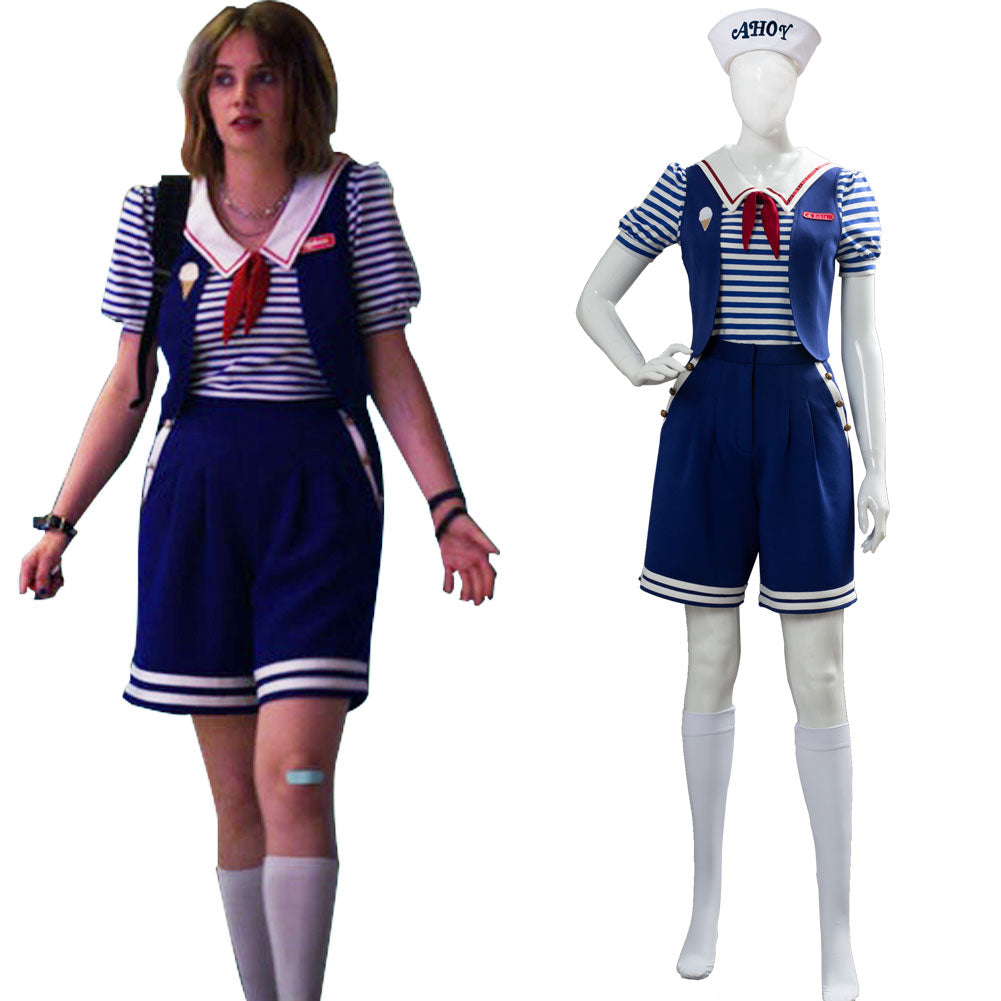 Stranger Things 3 Scoops Ahoy Robin Cosplay Costume Adult and Child