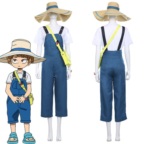 My Hero Academia Heroes: Rising Katsuma T-shirt Dungarees Jumpsuits Set Cosplay Costume