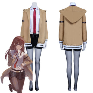 Steins Gate Makise Kurisu Outfits Halloween Carnival Suit Cosplay Costume