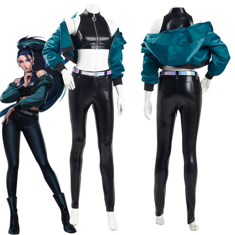 League of Legends LOL KDA Kaisa K/DA Group Coat Pants Outfits Halloween Carnival Suit Cosplay Costume