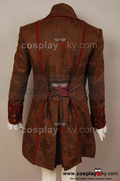 Alice In Wonderland Johnny Depp Mad Hatter Jacket Costume