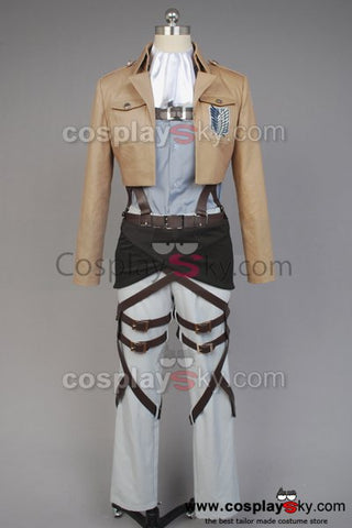 Attack on Titan Scouting Legion Rivaille Uniform Without Cape Cosplay Costume