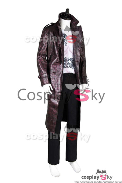 Batman Suicide Squad Jared Leto Joker Coat Cosplay Costume