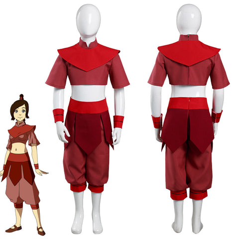 Avatar: The Last Airbender Ty Lee Kids Childern Top Pants Outfits Halloween Carnival Suit Cosplay Costume