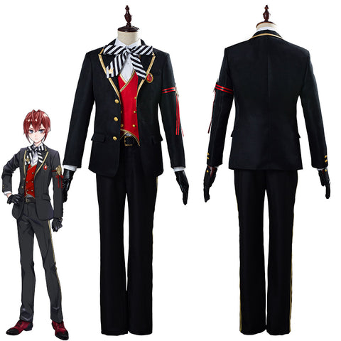 Twisted-Wonderland Riddle/Trey/Deuce/Cater/Ace Uniform Outfit Halloween Carnival Costume Cosplay Costume
