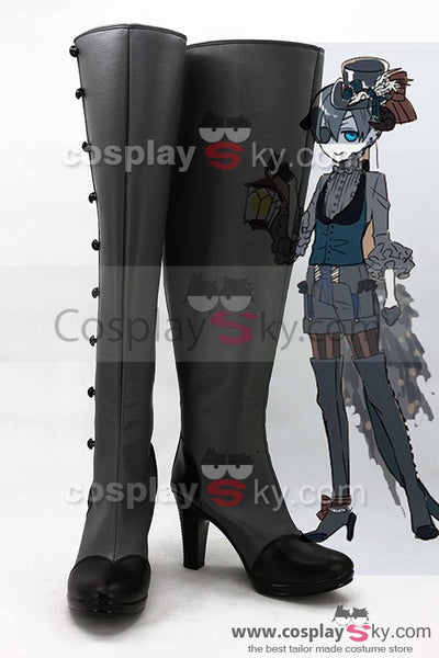 Black Butler Earl Ciel Phantomhive Evil Costume Cosplay Boots Shoes