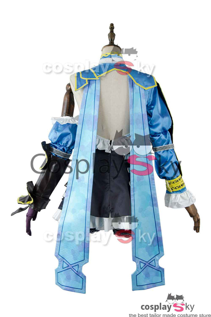 Bloodstained Ritual of the Night Miriam Cosplay Costumes Blue Fighting Uniforms