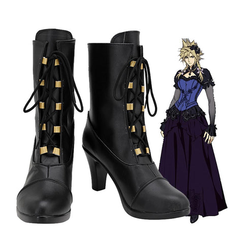 Final Fantasy VII Remake Cloud Strife Boots Halloween Costumes Accessory Cosplay Shoes
