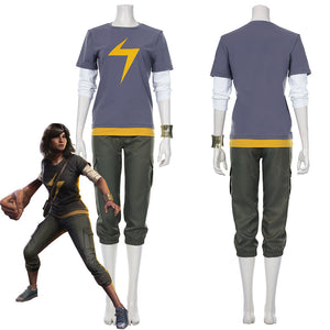 Avengers-Ms. Marvel Kamala Khan Outfits Halloween Carnival Suit Cosplay Costume