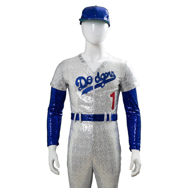 Rocketman Elton John Dodgers Baseball Uniform Cosplay Costume