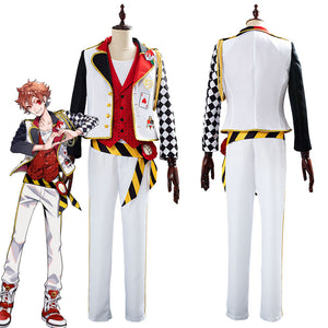 Game Twisted-Wonderland Alice in Wonderland Theme Ace Halloween Uniform Outfits Cosplay Costume