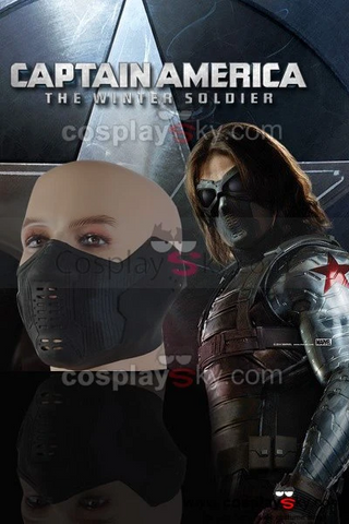 Captain America 2 The Winter Soldier Bucky Barnes Face Cover Replica Cosplay Props