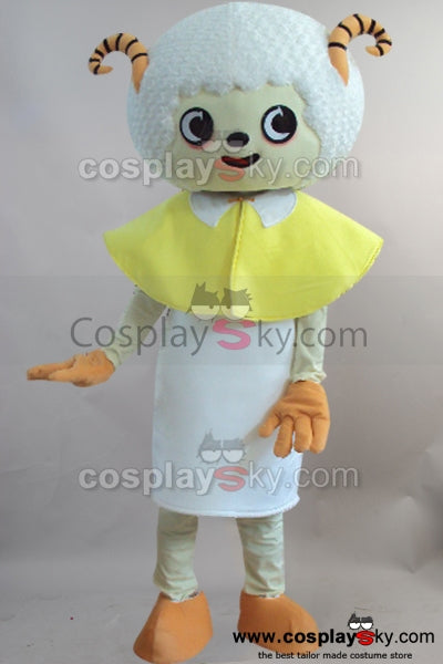 Cartoon Sheep Mascot Cosplay Costume Adult Size