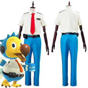 Animal Crossing Orville/Wilbur Dodo Airlines Pilot Unifrom Outfit Halloween Carnival Costumes for Adult Cosply Costume