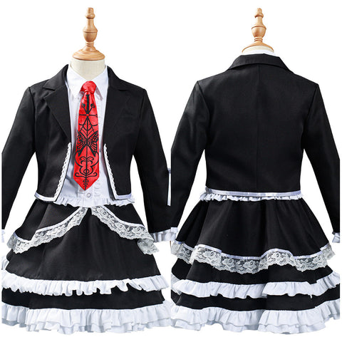 Anime Danganronpa Celestia Ludenberg Kids Girls Dress Outfits Halloween Carnival Suit Cosplay Costume