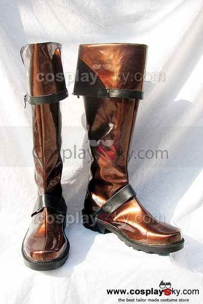 D.Gray-man Lavi Cosplay Boots Shoes Dark Brown