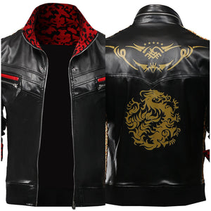 Final Fantasy VII Remake Cosplay Leslie Kyle Leather Jacket Halloween Carnival Costume Cosplay Costume