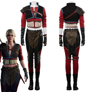 The Witcher 3-Ciri Outfits Halloween Carnival Costume Cosplay Costume