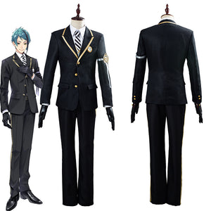 Twisted-Wonderland Azul/Floyd/Jade Uniform Outfit Halloween Carnival Costume Cosplay Costume