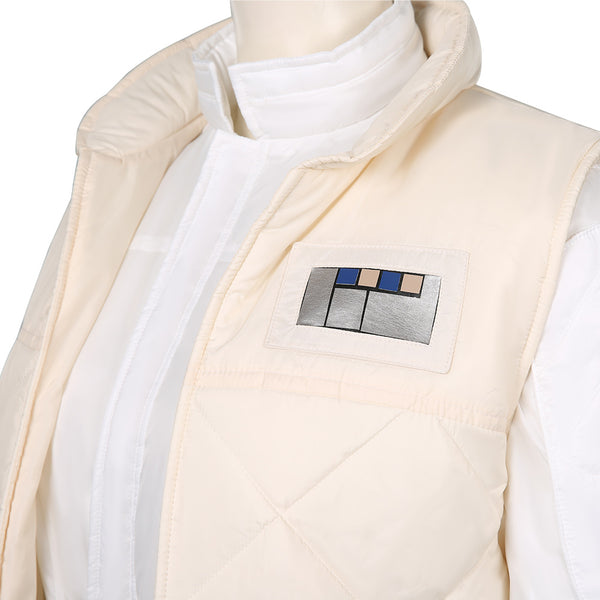 Star Wars-Leia Organa Solo Jumpsuit Vest Outfits Halloween Carnival Suit Cosplay Costume