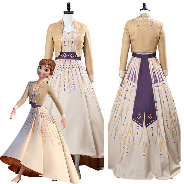 Frozen 2 Anna Princess Picnic Gown Dress Cosplay Costume