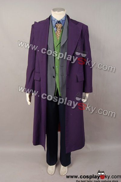 Dark Knight Joker 6 pcs Costume Set * Gabardine trench Coat Version