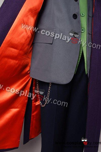 Dark Knight Joker Purple Wool Trench Coat Costume