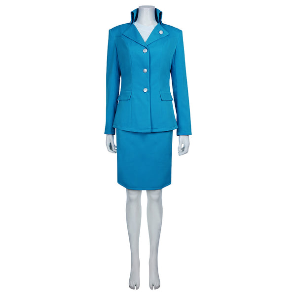 Snowpiercer Melanie Cavill Women Blue Uniform Suit Outfit Full Set Cosplay Costume