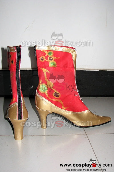 Dissidia 012: Duodecim Final Fantasy Cosplay Boots Red