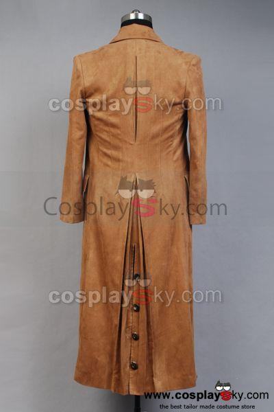 Doctor Who Dr. Brown Long Trench Coat Suit Costume Custom Made